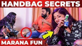 Kavya Suresh Handbag Secrets Revealed   Thirumanam   Vj Ashiq   What's Inside the HANDBAG