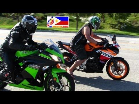 Kawasaki NINJA 300 Versus Honda CBR 250R DRAG RACE