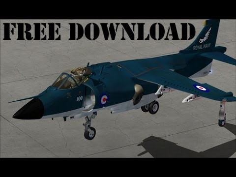 Flight Simulator x - FSX - How To Download The Harrier Aircraft for FREE