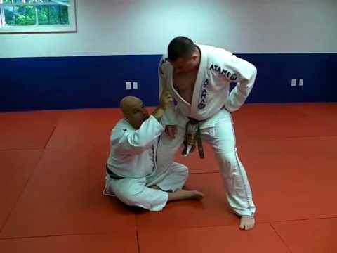 De La Riva Guard Sweep - Basic De La Riva Hook Sweep Against Standing Opponent Image 1