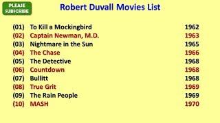 Robert Duvall Movies List