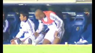 Faubert asleep during the game real madrid  full HQ