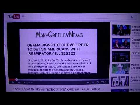 Executive Order Alert (01 August 2014) Ebola Detentions in U.S.A.