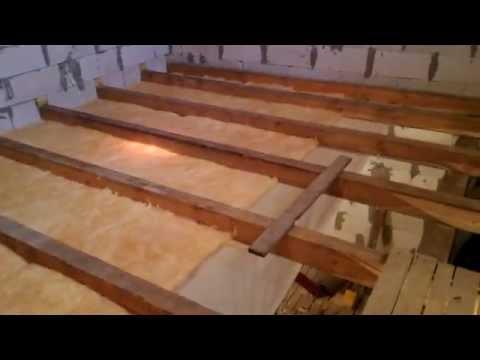 Деревянное межэтажное перекрытие своими руками