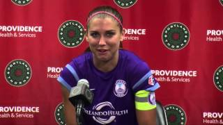 Alex Morgan talks about returning to Portland, playing for a new team and about Orlando