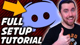 How To Make A Discord Server: Full Setup Discord Tutorial With FREE Discord Template!