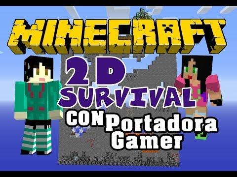 Minecraft PC- 2d Survival con Portadora Games Parte 7