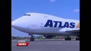 Lao NEWS on LNTV: The 2nd batch of 305 air freighted cattle from Australia arrives in Laos.7/12/2015