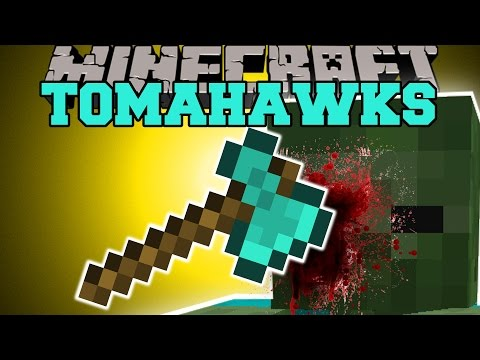 Minecraft: TOMAHAWKS (BOMBY'S AXE THROWING CHALLENGE!) Mod Showcase