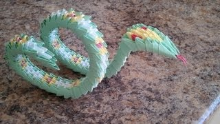 How To Make 3d Origami Snake, Part 1