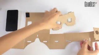 Gearbest Review: DIY VR 3D Cardboard Glasses Kit for iPhone, Android Smart Phone- GearBest.com