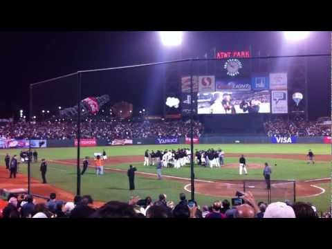 Matt Cain Perfect Game Final Out and Celebration at AT&T Park - June 13, 2012