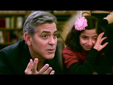 George Clooney meets Syrian refugees