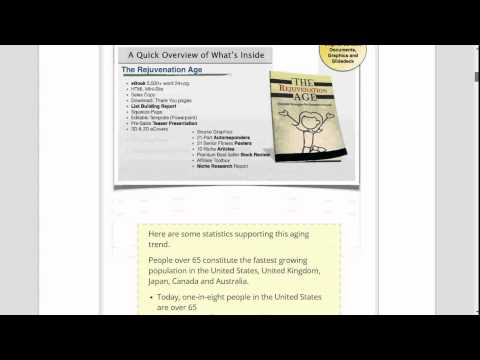 The Rejuvenation Age Senior Wellness and Fitness PLR Review png