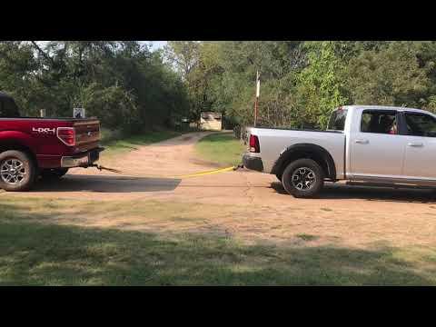 Ram Rebel vs Ford F-150 tug of war
