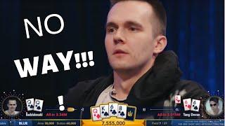 3 CRAZY poker hands with QUADS!!