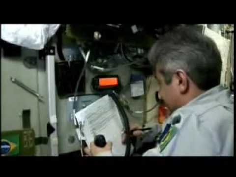 Amateur Radio Contact Video, recorded inside Space Station