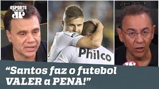 """""""O SANTOS faz o futebol VALER a PENA!"""" Peixe é EXALTADO após 3 a 0 no Atlético-GO!"""