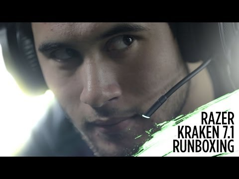 Razer Kraken 7.1 rUnboxing   Virtual 7.1 Surround Sound USB Gaming Headset