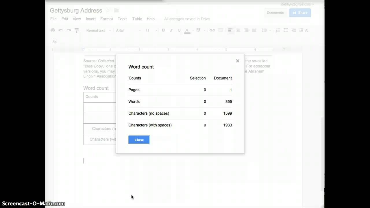 How count the words of a an essay in word