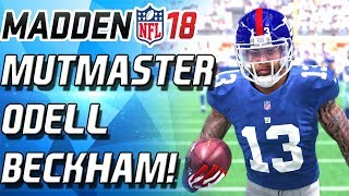 MUT MASTER ODELL BECKHAM! INSANE DIVING CATCH! BEST WR IN MADEN! - Madden 18 Ultimate Team