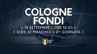 Serie A1M [2^]: Cologne - Fondi 30-30