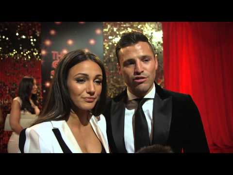 Michelle Keegan and Mark Wright on the red carpet talk about watching her final scenes in Corrie