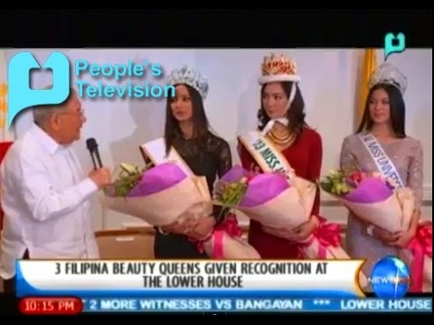 Newslife: 3 Filipina Beauty Queens Given Recognition At The Lower House || Jan. 22, '14 video