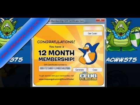 Club Penguin Membership Generator 2013