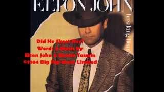 Watch Elton John Did He Shoot Her video