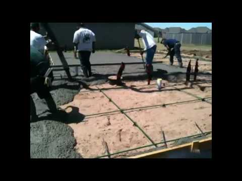 Shaw Homes - Post Tension Slab Pour - New Homes in Tulsa