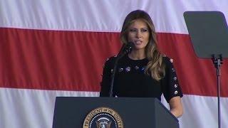 Melania Trump thanks US military members
