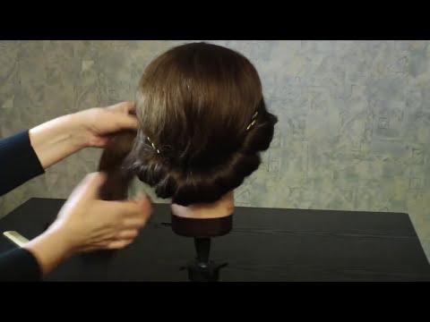 Прическа в греческом стиле.  Greek Goddess Updo Hair Tuto