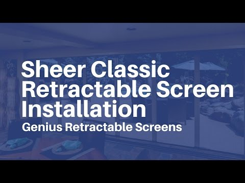 Genius retractable screens sheer classic easy for Genius retractable screen