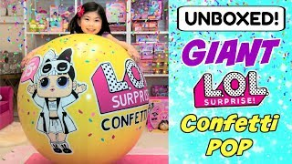 UNBOXING GIANT LOL SURPRISE BALL SERIES 3 WAVE 2 L