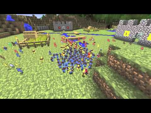 Minecraft - Clay Soldier Mod - 512 Clayman battle