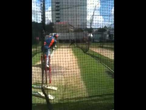 Ricky Ponting batting in the nets