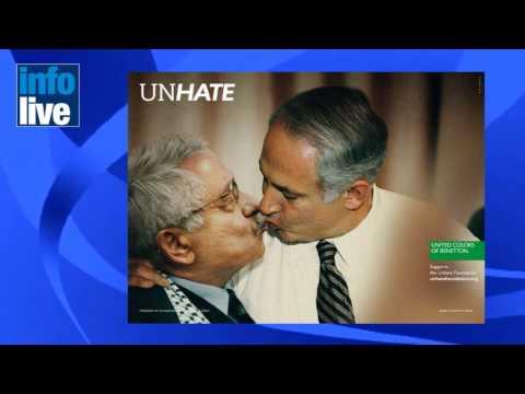 Netanyahu y Abbas se besan en una controversial campaña de Benetton