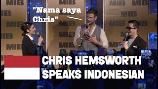Chris Hemsworth Speaking Indonesian | Men in Black International Tour in Bali May 2019