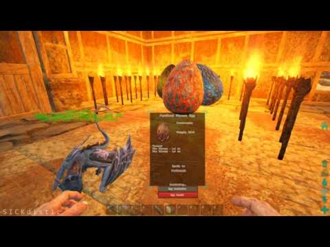 ARK Scorched Earth - Fire Wyvern / Poison Wyvern / Lightning Wyvern Egg Hatching