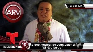 """""""Si quieres"""", exclusiva del video de Juan Gabriel   Al Rojo Vivo   Telemundo"""