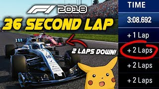 36 SECOND LAP AT AUSTRIA! LAPPING THE GRID TWICE IN A 5 LAP RACE! | F1 Game Experiment