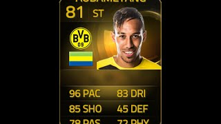 FIFA 15 SIF AUBAMEYANG 81 Player Review & In Game Stats Ultimate Team