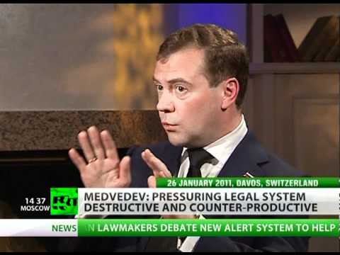 Dmitry Medvedev on Russian corruption, Khodorkovsky & 2012