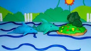 Đồ chơi đất sét Play Doh - Nặn cá heo dễ thương cho bé - How to make a Playdoh Dolphin