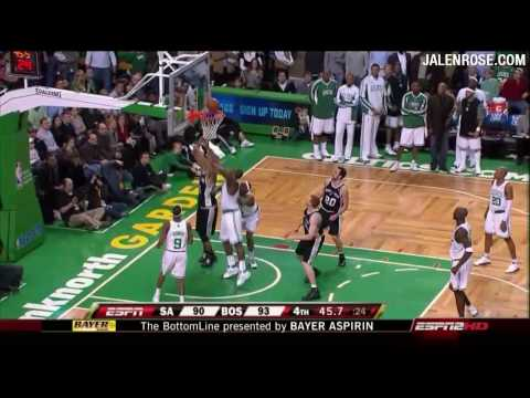 Celtics vs Spurs in HD - Feb 8, 2009 - Jalen Rose Reports