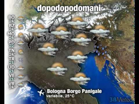 Meteo Italia a 3 giorni del 25/05/2011