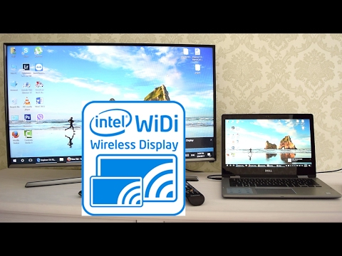 Miracast or WiDi Wireless Display stream from laptop to Samsung smart TV