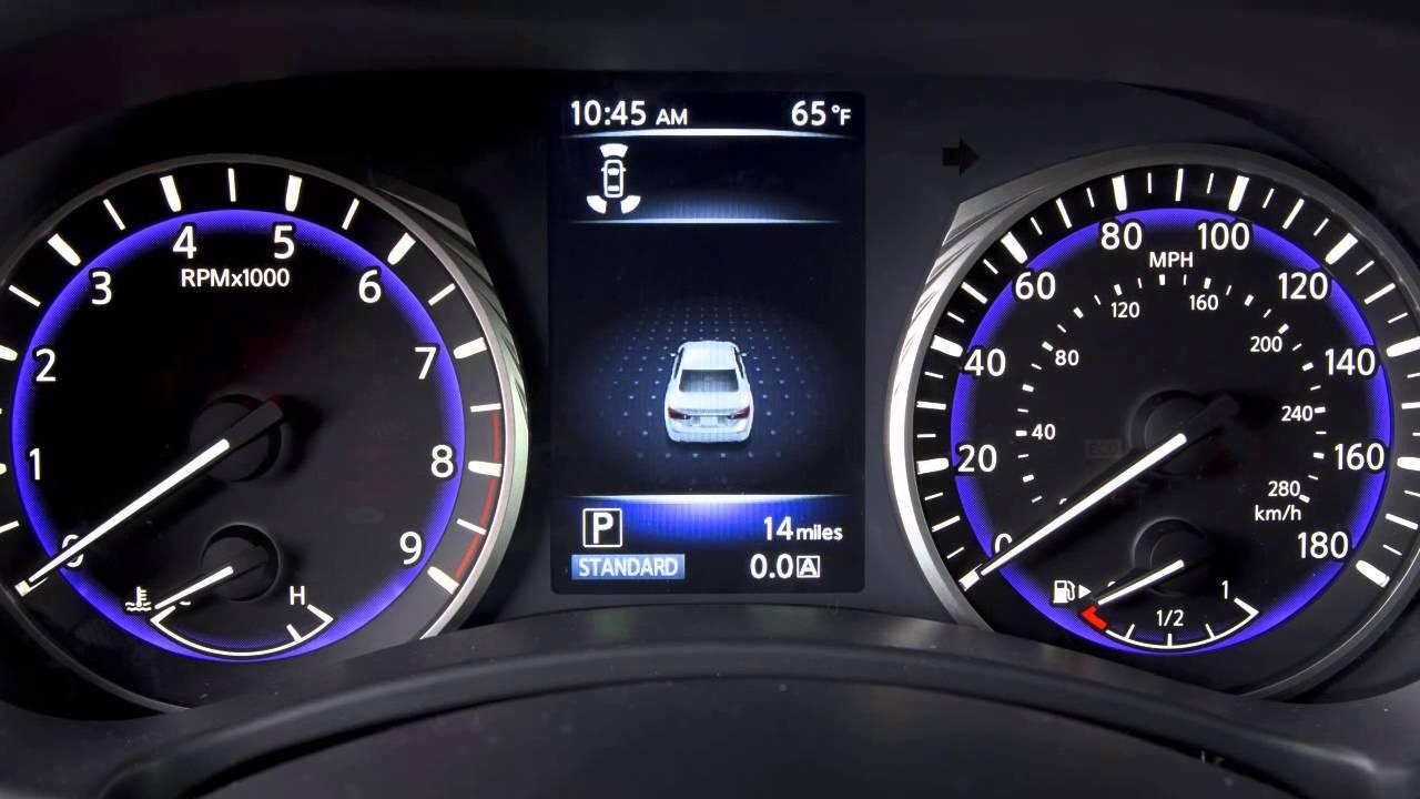 2015 infiniti q50 vehicle information display youtube