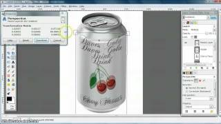 GIMP Tutorial - wrap or warp an image around a can